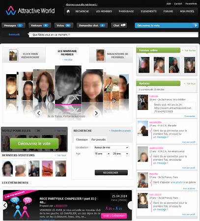 attractive world interface